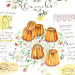Barb recipe, French cake recipe of painting, Watercolor, recipe illustration print, print of 8X10,