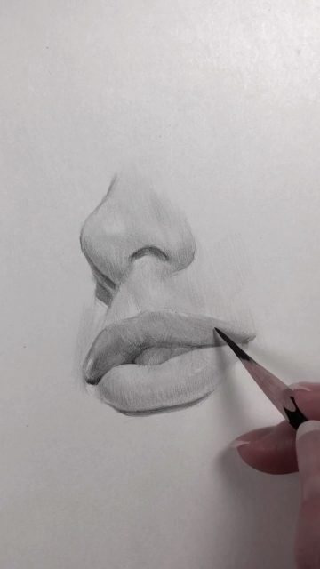 Drawing the nose and lips of Nadia Coolrista. Follow my Instagram @...