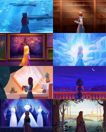 """Maxine Vee on Instagram: """"I want to share the final collage with all the princesses together!"""