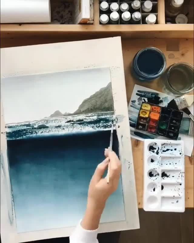 There are No half measures when it comes to watercolor. Watercolor demands const...