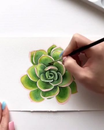 You can draw with watercolors? let us know in the comments! By @daintyrebel 💫...